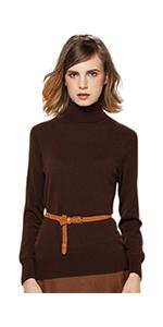 Turtle neck cashmere sweater