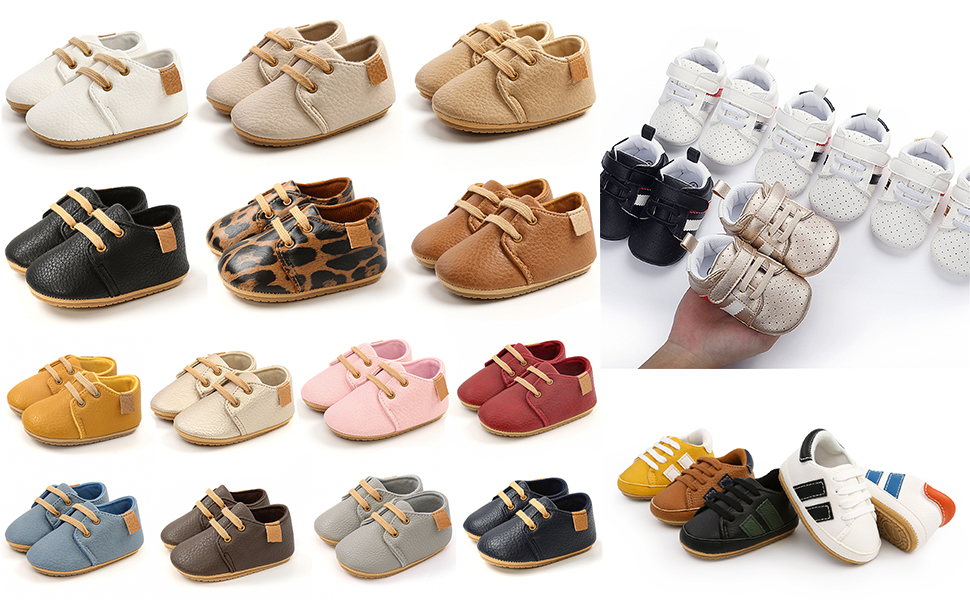 Baby Boys Girls Sneakers Anti-Slip Oxford Loafer Flats