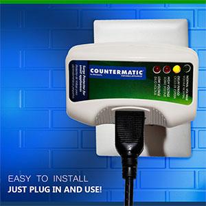 Protector de voltaje para electrodomésticos de cocina protege el microondas contra sobretensiones eléctricas.