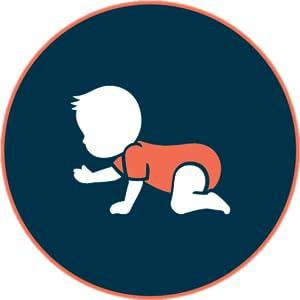 Crawler (はいはい期) - 赤ちゃんが両手を使って食べ物を食べる方法を学ぶことを応援します。