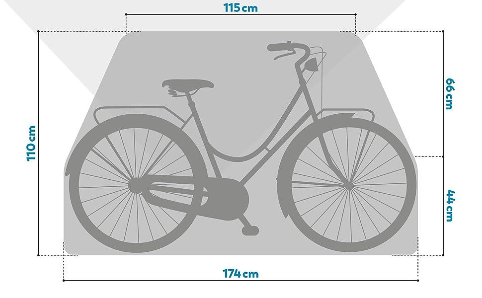 Rubberneck Funda para Bicicleta Exteriror al Aire Libre Cubierta Impermeable Protector contra Lluvia Sol: Amazon.es: Deportes y aire libre