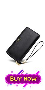Leather Long Wallets for Women