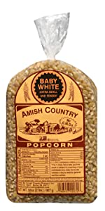 Baby White Kernels Amish Country Popcorn Old Fashioned