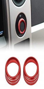 4WD Four Wheel Drive Switch Knob Button Ring Cover for Ford F150 2009-2014