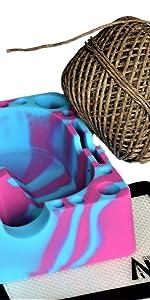 Hemp Wick with X-Large Silicone Ashtray