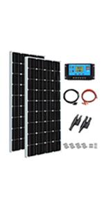 exterior yate jard/ín m/ódulo fotovoltaico mono XINPUGUANG Kit de panel solar de 150 W y 12 v luz 150 controlador de carga solar de 20 A para autocaravana
