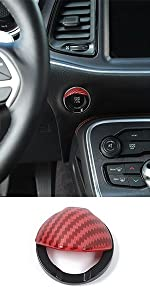 Engine Start Stop Button Switch Trim Cover for Dodge Charger Challenger