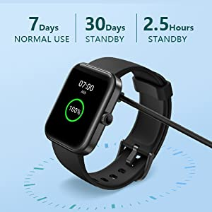 Long Battery Life with Magnetic Charging & Brightness Adjustable