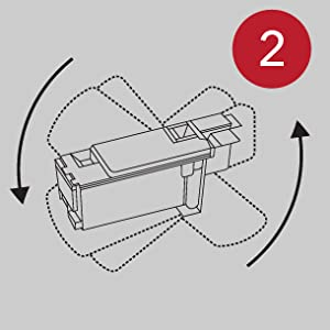 Image showing step 2 of the cartridge installation.