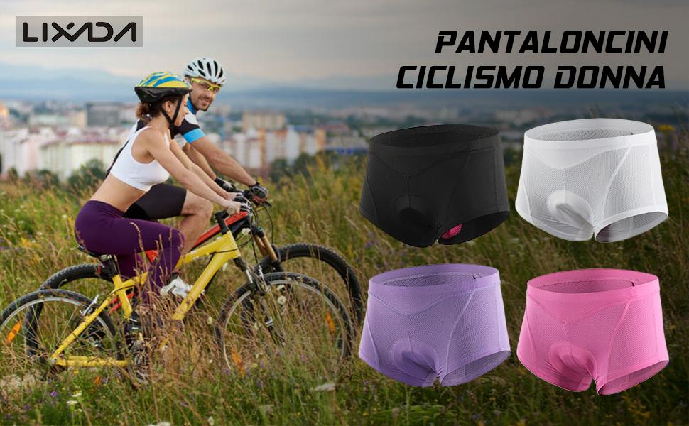 Lixada Ciclismo lmbottito Shorts Biancheria lntima Mutande Traspirante 3D del lmbottito Intimo Bike Pantaloni Corti Pantaloni di Estate Rapido Asciutto