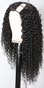 u part human hair wig curly
