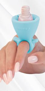 mini wearable nail polish holder ring