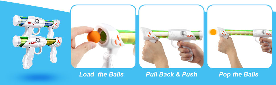 2 Popper foam toy gun and how to use