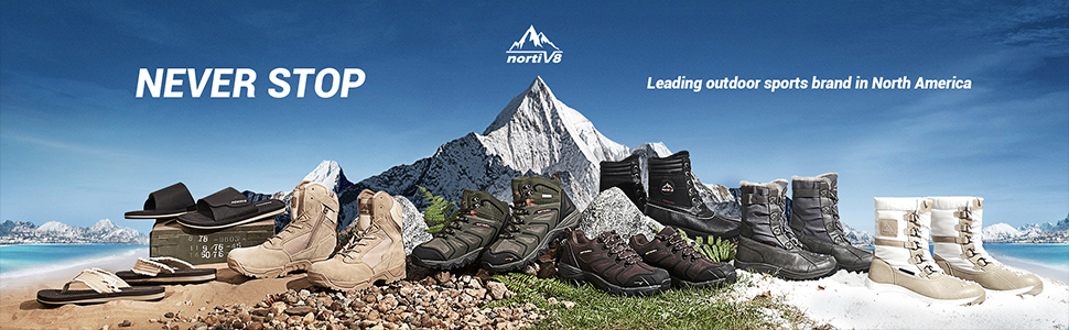 NORTIV 8 Men's Waterproof Hiking Shoes Lightweight Leather Low-Top Hiking Shoes for Outdoor