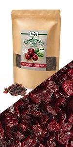 arándanos rojos secos deshidratados bio sin azucar harina muesli frutas secas nueces gluten sal té