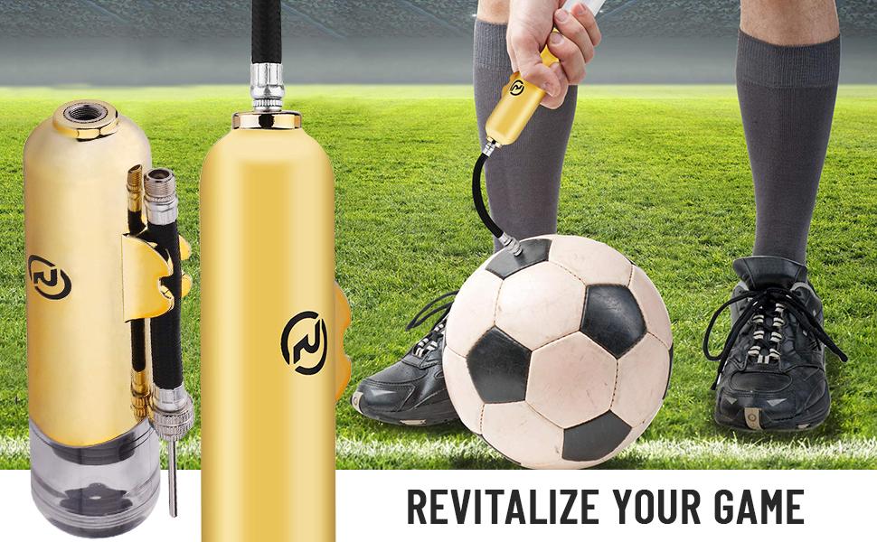 Ball Inflator Hand Air Pump w// Needle For Football Basketball Sport Soccer Ba MR