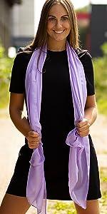DOLCE ABBRACCIO by RiemTEX Stola Schal Tücher Tuch Schals Halstuch Hijab Kopftuch Chiffontuch