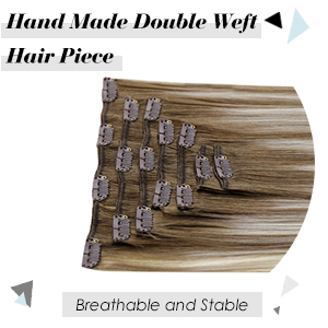 clip in hair extensions blonde balayage