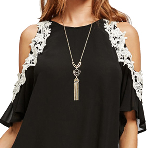 Lace cut out Sleeve