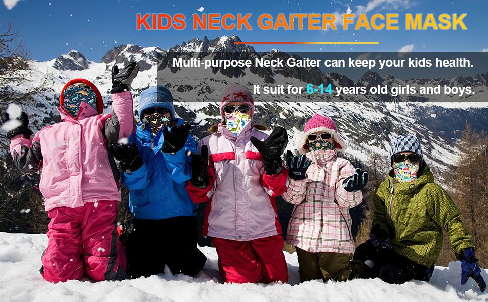 kids gaiter face mask