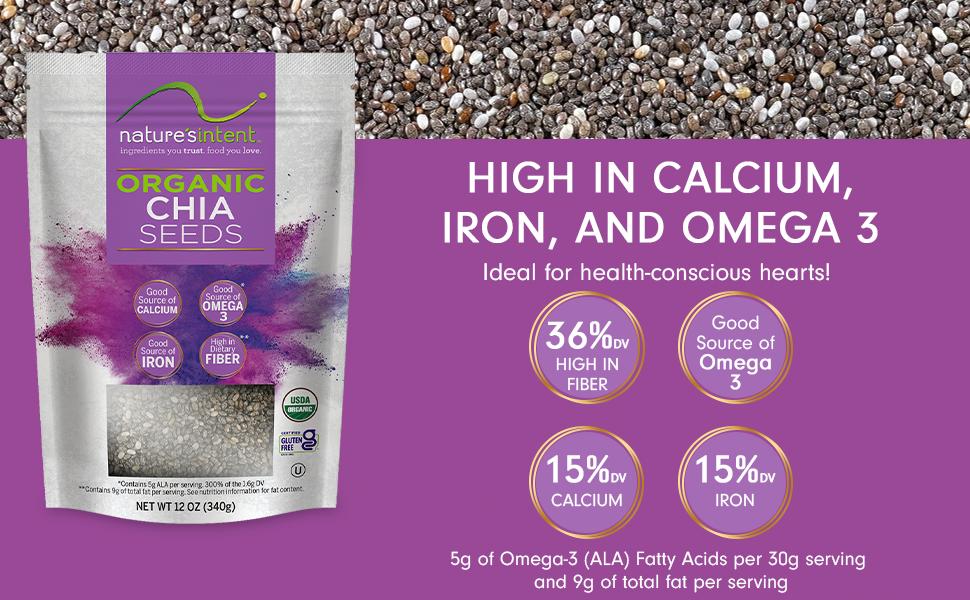 Organic Chia Seed in 12 oz bags