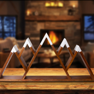 Smokey mountain aspen Alaska Colorado western triangle crystals adornos para la sala