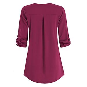 mid sleeve blouses for women