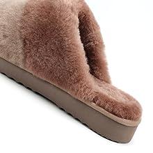 mule shearling womens close-toe scuff slippers ugg Se'renis australian comfort luxury gray brown