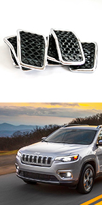 chrome silver grille inserts for jeep cherokee 2019-2021