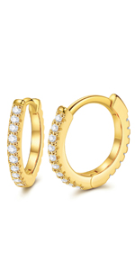 """Details about  /3.6g Solid Sterling Silver 2.36/"""" Endless Hoop Earrings 18k Yellow Gold Plated"""