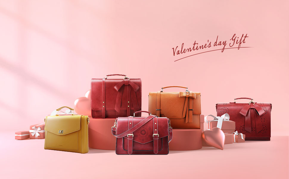 letaher briefcase for women