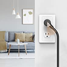 angled flat plug