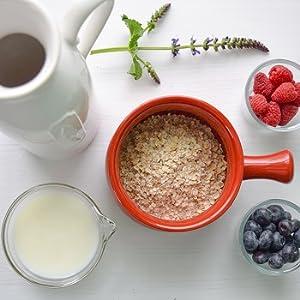Copos de Avena Integrales Finos Oat Flakes de HSN | Cereal con Proteínas, Carbohidratos de Lenta Digestión y Ácidos Grasos Esenciales | Aporte de Fibra | Vegano, Sin Lactosa, Sin Conservantes, 1kg: