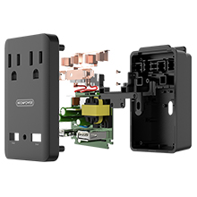 4 in 1 Travel Outlet wirth 5 Adapters