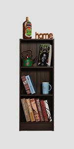 DeckUp Lexis Book Shelf/Display and Storage Unit (Walnut, Matte Finish SPN-FOR1