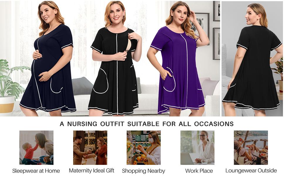 nursing pajamas women