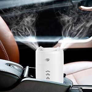 最新 ダブルスプレー 加湿器 卓上 空気浄化機 超静音