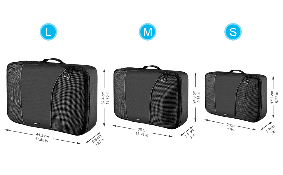Organiseurs de Bagage Sacs Rangement Valise Voyage Placard Tiroir 5 pcs Noir
