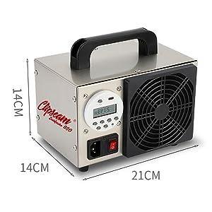 Generador de Ozono 10 gr/h para tratar superficies de hasta 150 m²,agentes infecciosos, Ácaros, malos olores. 5000 horas de uso(10 gr/h digital): Amazon.es: Hogar