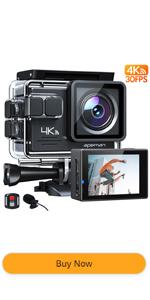 APEMAN 4k action camera waterproof camera external mic underwater camera remote control sport camera