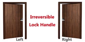 Irreversible Lock Handle