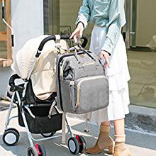 diaper bag with Stroller Hooks