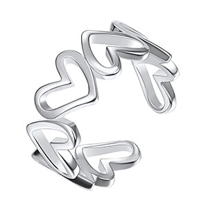 sterling silver adjustable rings