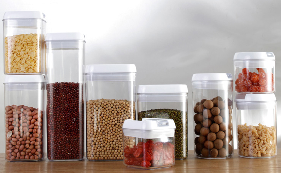 Airtight Food Storage Cereal Containers