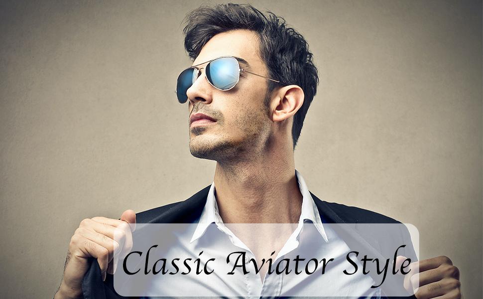 Classic Large Metal Frame Mirror Lens Aviator Sunglasses men women