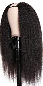 u part kinky straight wigs