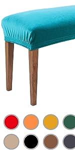 Velvet Bench Covers for Dining Room