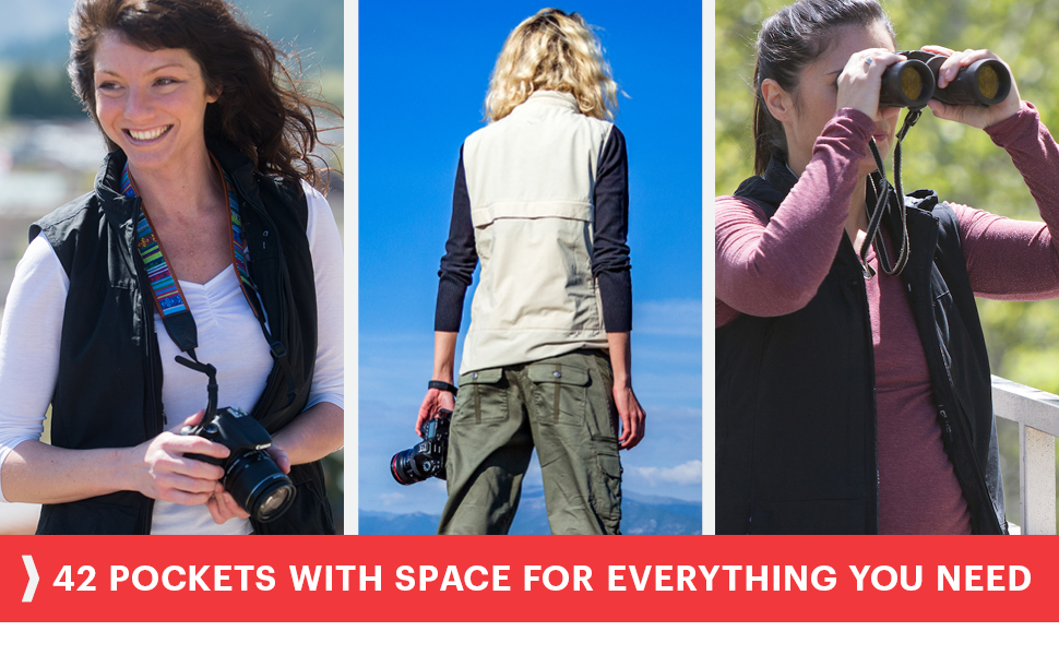 42 pockets for everything you want and need