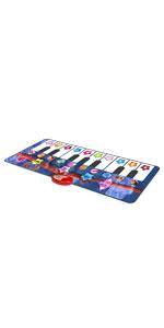Kidzlane piano mat black and white keys musical instrument sounds record playback demo mode