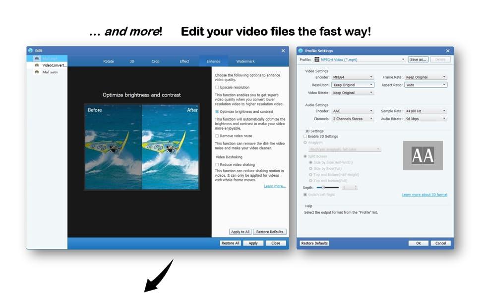 edit video files fast